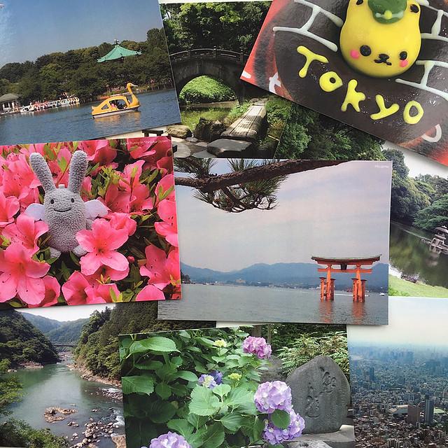 Japan trip postcards