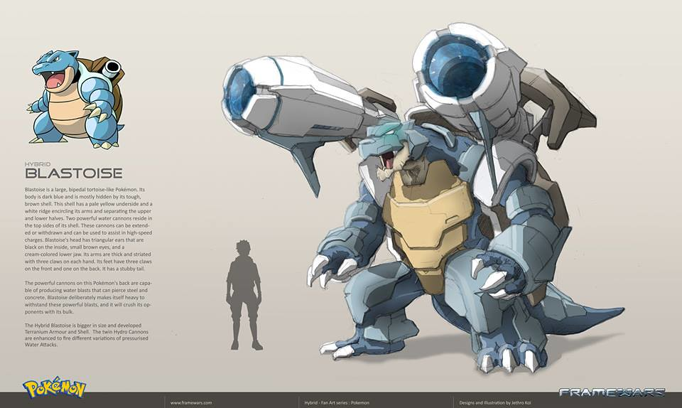 Metal Hybrid Pokemon - Blastoise - by Frame Wars