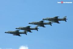 ZH796 & ZH798 & ZH804 & ZH813 - Royal Navy - British Aerospace Sea Harrier FA2 - Fairford RIAT 2005 - Steven Gray - DSCF2789