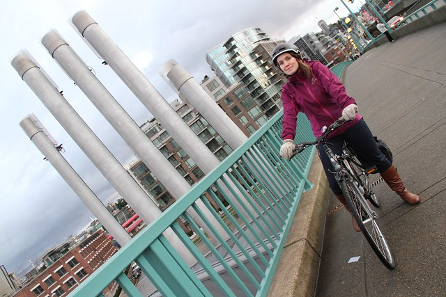 Erin O'Melinn of HUB, a cycling organization in Vancouver near the stacks shaped like a hand under the Cambie Bridge. Is Vancouver the bike friendliest place in Canada? How much heat for buldings can you get from a sewage system? We will tell these storie