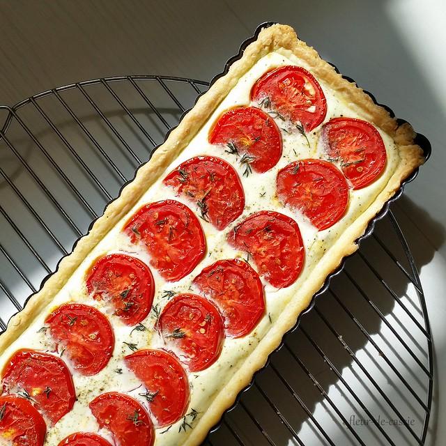 тарт с рикоттой и помидорами 2