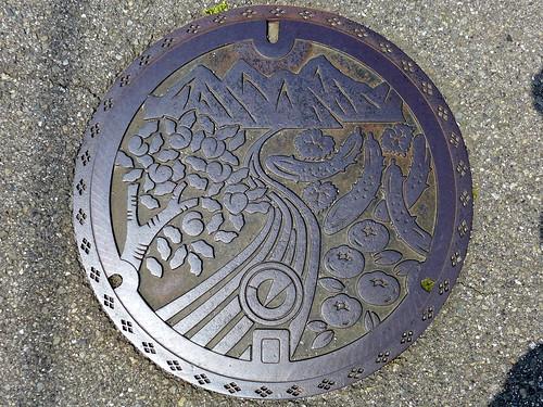 Kosai Yamanashi, manhole cover (山梨県甲西町のマンホール)