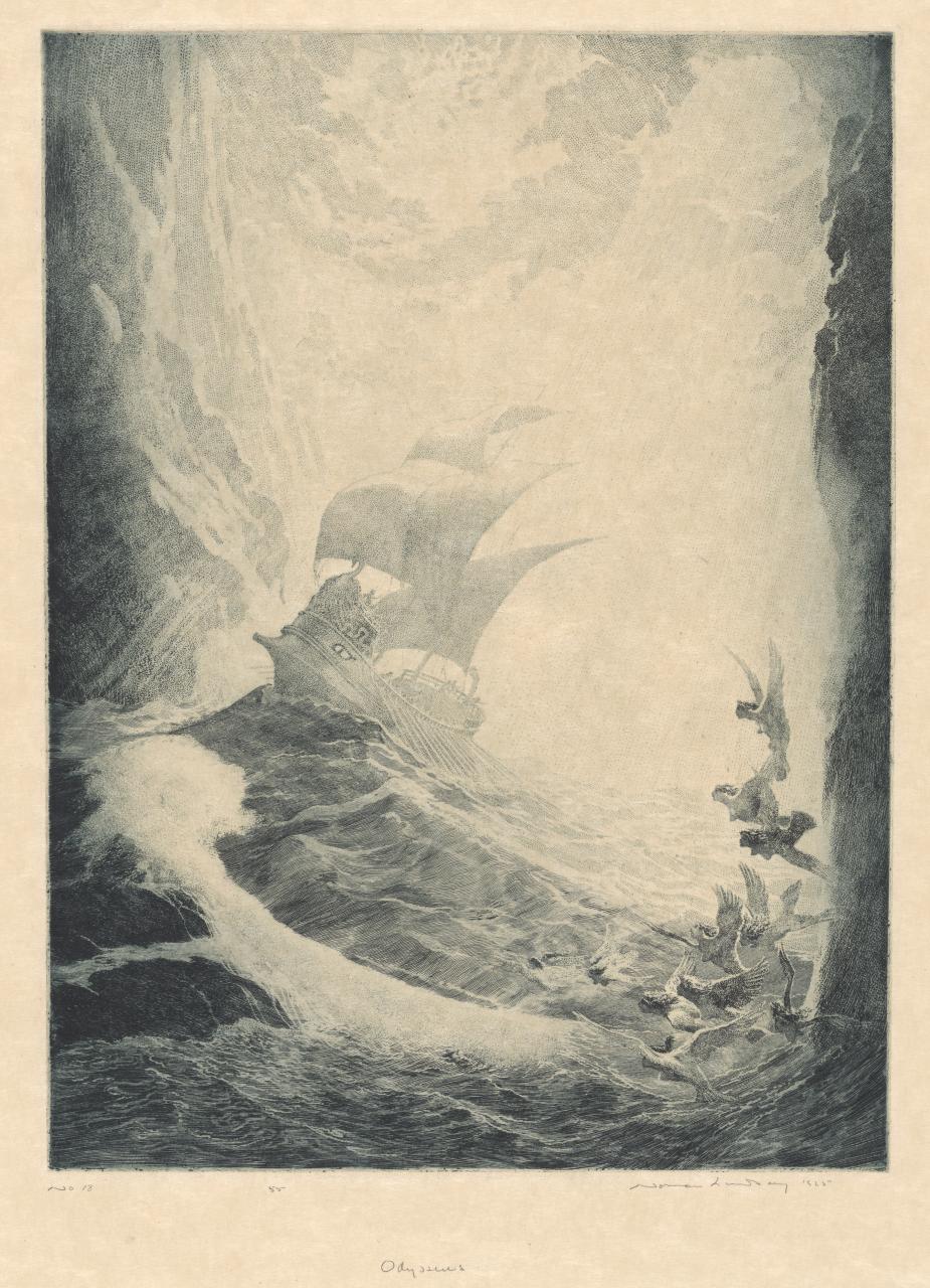 Norman Lindsay - Odysseus, 1925
