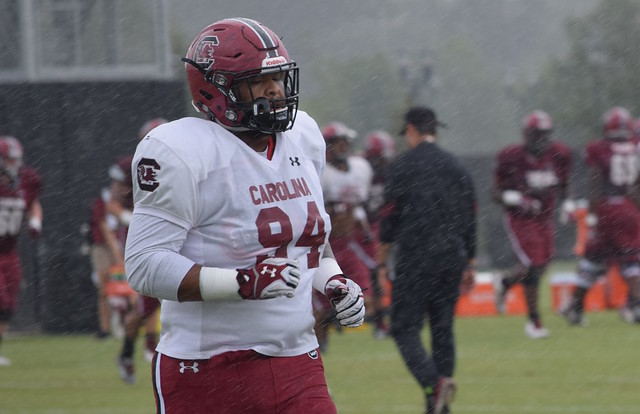 South Carolina practice Monday, Aug. 8
