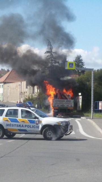 Požár na Pražské