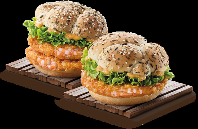 Cereal Ebi Burger, courtesy of McDonald's