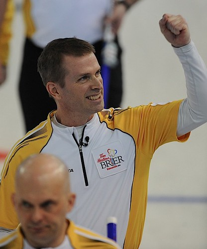 Edmonton Ab.Mar8,2013.Tim Hortons Brier.Manitoba skip Jeff Stoughton.CCA/michael burns photo | by seasonofchampions