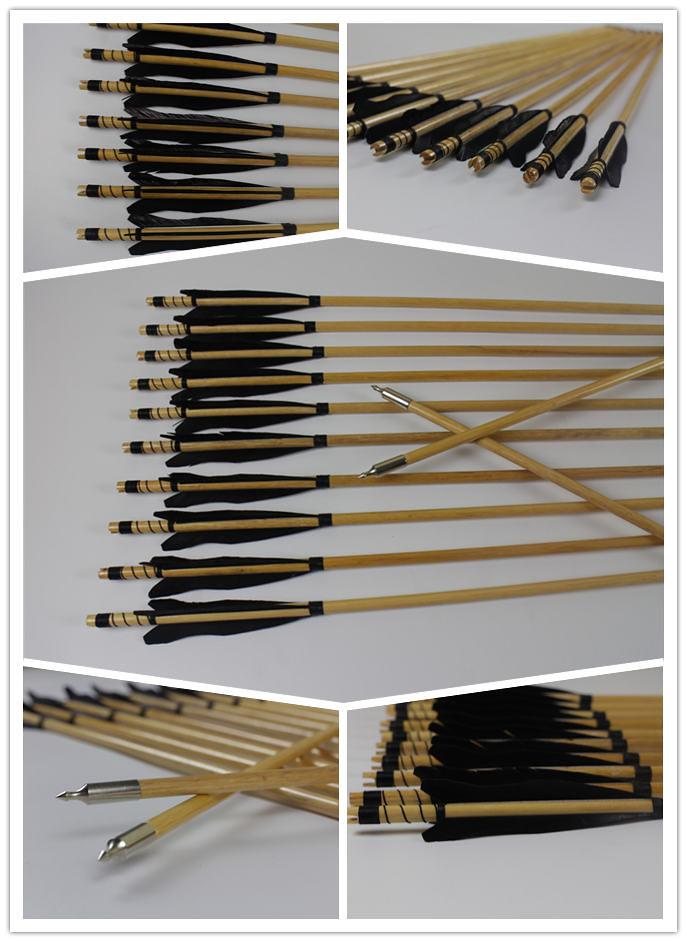 frecce in legno con alette nere