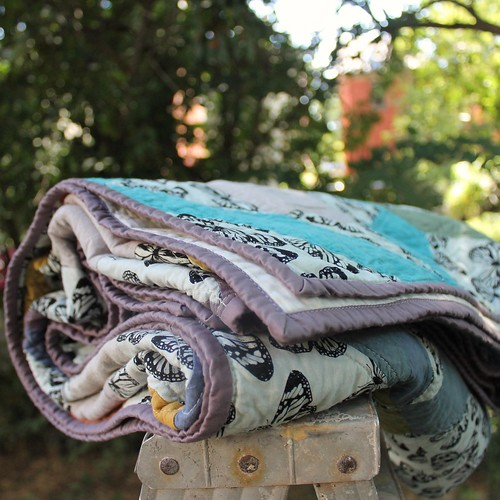 Jewelweed Hand Dyed Fabric Quilt