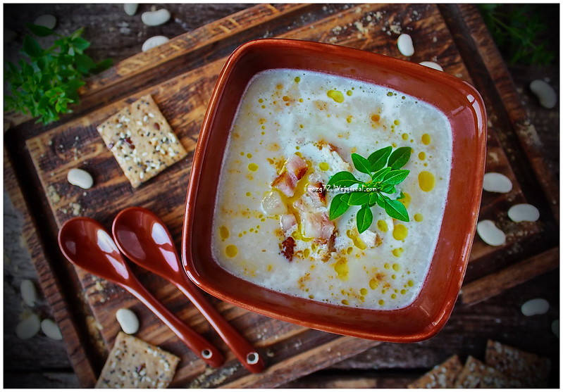 ...cream soup of white beans