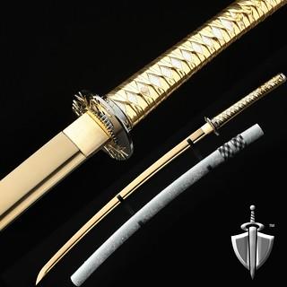 bamboo Tsuba - Gold