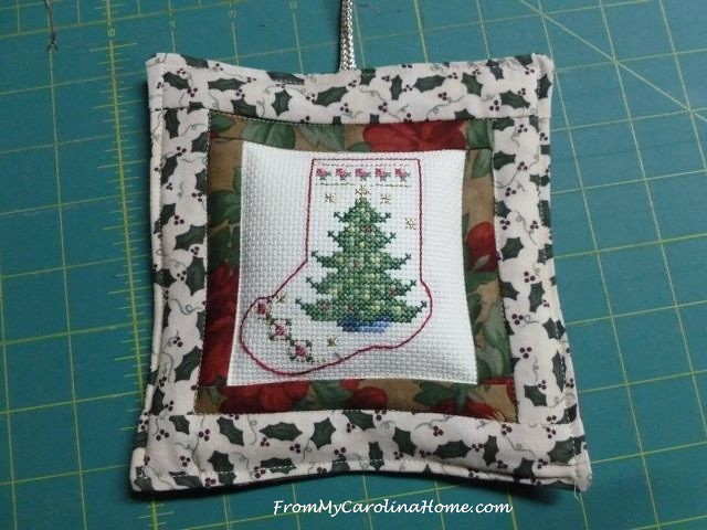 Cross Stitch Christmas Ornament ~ From My Carolina Home