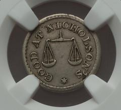 Nichilson's Half Dime token obverse