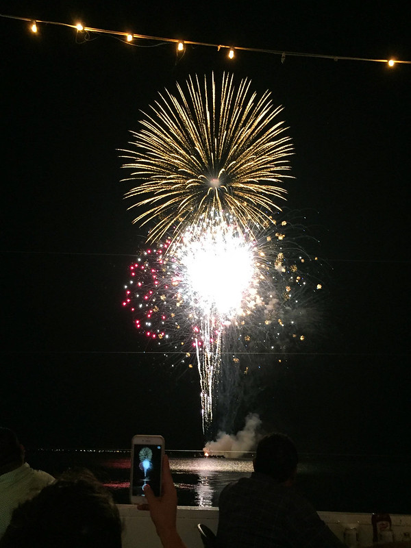 Fireworks at Louie's Backyard on South Padre Island