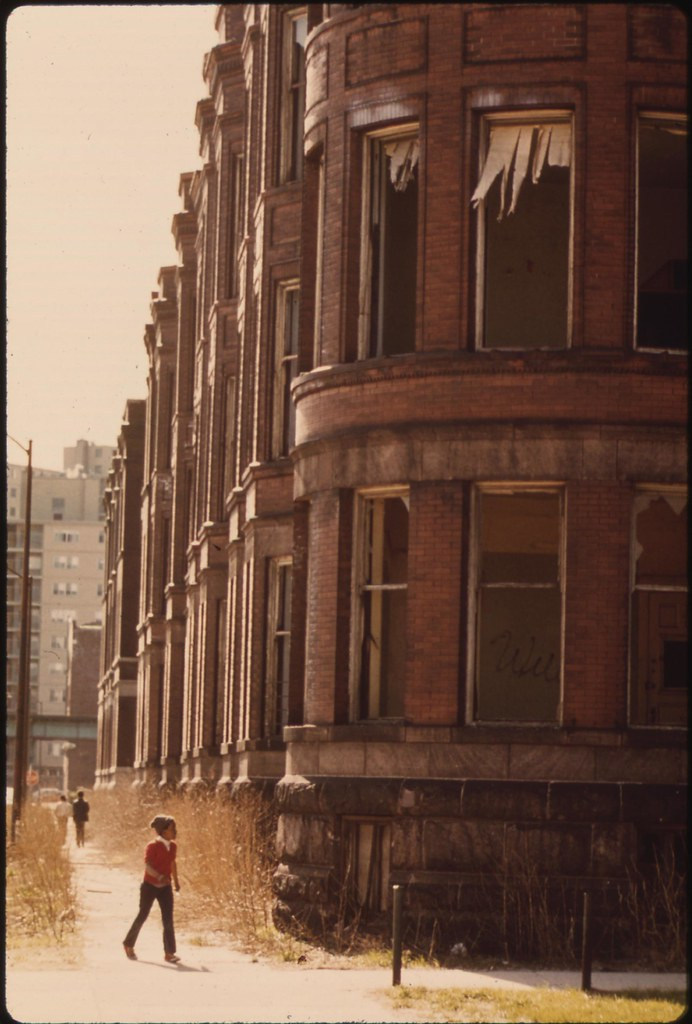 Empty Housing In The Ghetto On Chicago's South Side Structures Such As This Have Been Systematically Vacated As A Result Of Fires, Vandalism Or Failure By Owners To Provide Basic Tenant Services, 05/1973 | by The U.S. National Archives