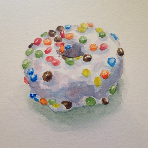 Donut 4, watercolor