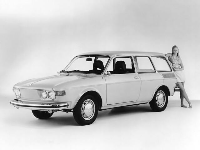Трёхдверный универсал Volkswagen 412 Variant. 1972 – 1974 годы