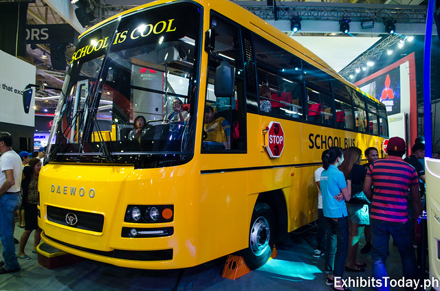 Yellow Daewoo Bus