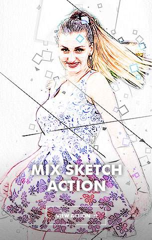Creative Splatter Photoshop Action - 113