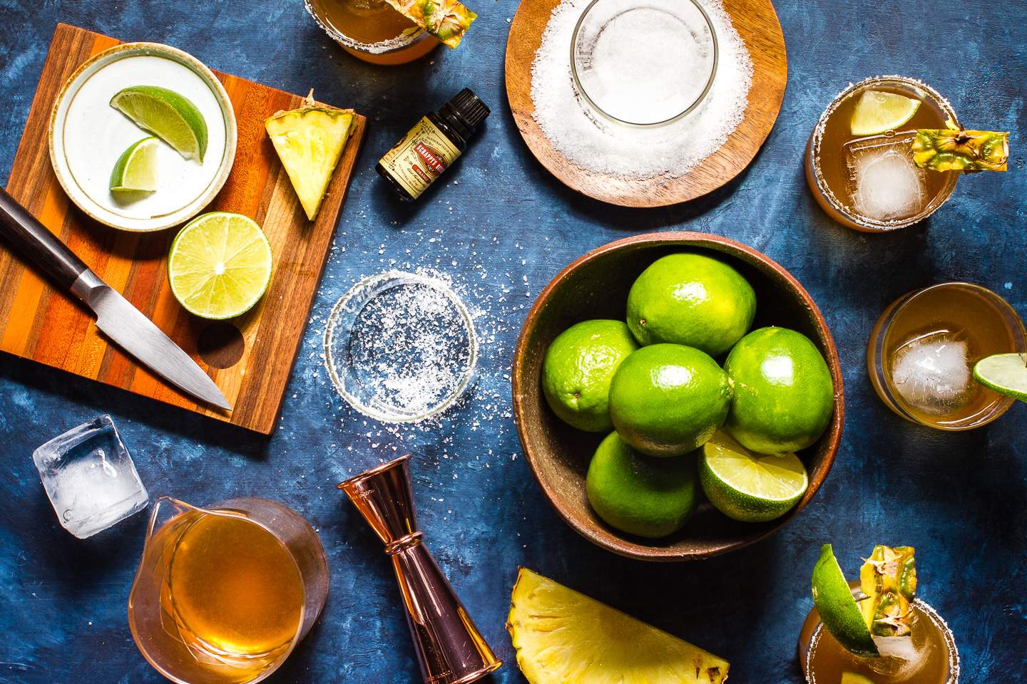 Roasted Pineapple Mezcal Margaritas
