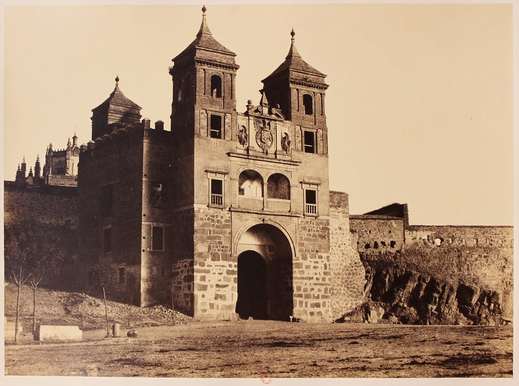 Puerta del Cambrón en 1858. Fotografía de Gustave de Beaucorps, una de las vistas más antiguas de este monumento. Biblioteca Nacional de Francia.