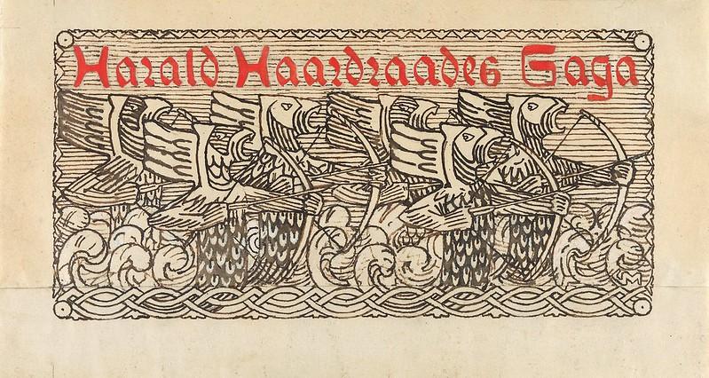 Gerhard Munthe - Title Decoration, Harald Hardrades Saga, 1899