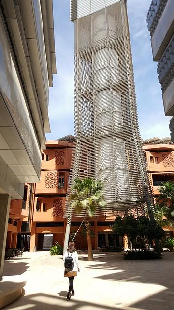 Wind tower, Masdar Institute