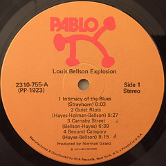 THE LOUIS BELLSON EXPLOSION:THE LOUIS BELLSON EXPLOSION(LABEL SIDE-A)