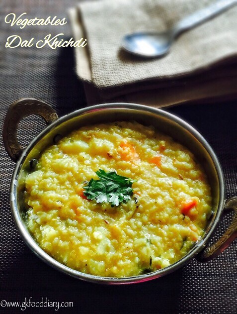 Vegetables Dal Khichdi Recipe for Babies, Toddlers and Kids1