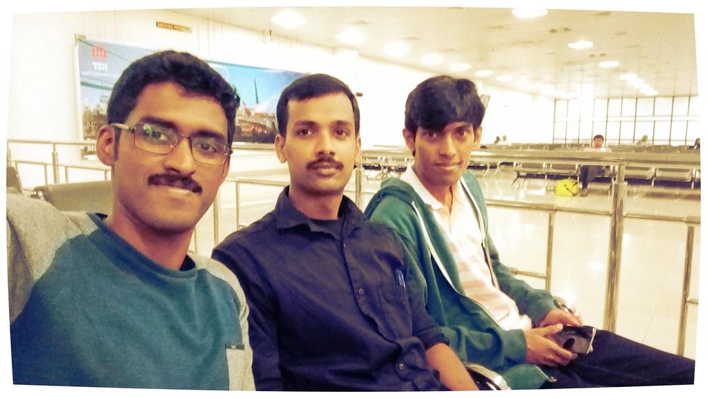 Starting our journey to ICRA - Team Autobots -Me, Lentin Joseph, Chandykunju Alex