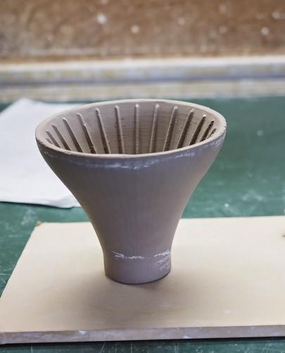 製作過程のFujiコーヒードリッパー