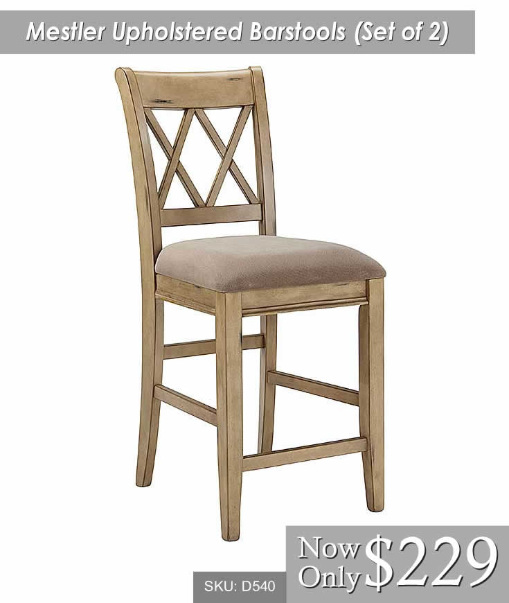 Mestler Upholstered Barstool Set of 2