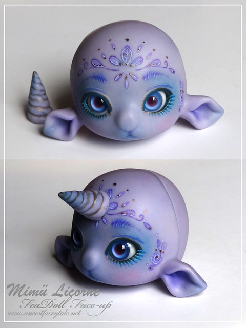 Mimu licorne violet skin avec face-up