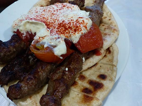 kebab et yaourt