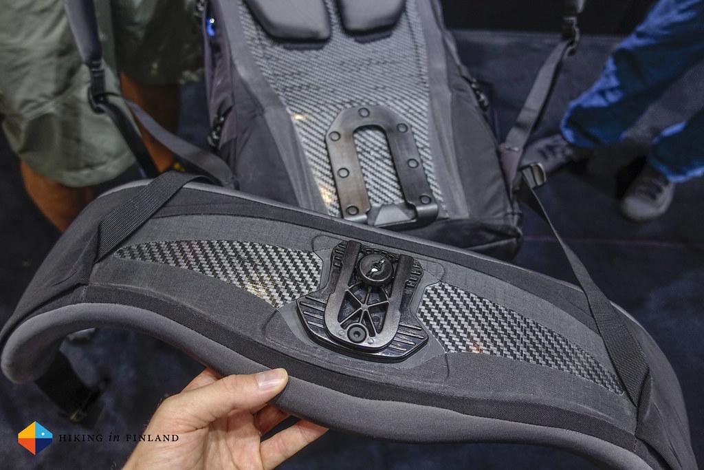 Backside of the Hipbelt of the Arc'teryx Bora AR Pack