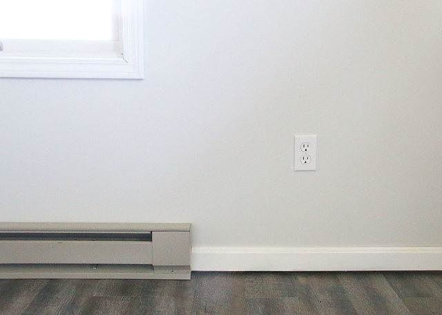 Baseboard Heater Faux Wood Floor