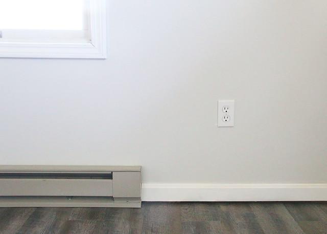 Baseboard Heater Faux Wood Floor