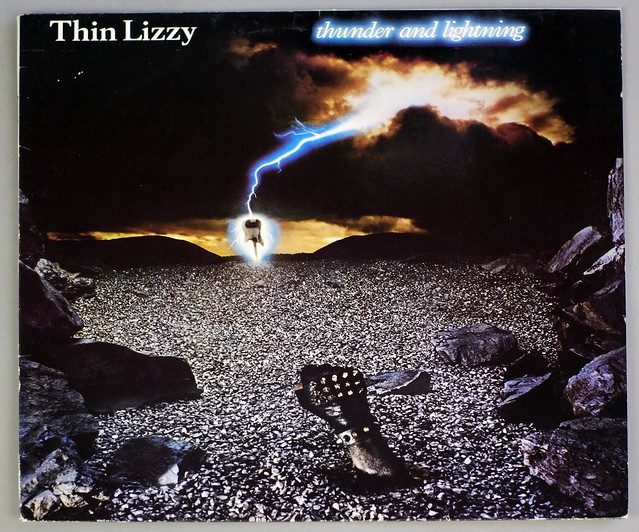 "THIN LIZZY THUNDER AND LIGHTNING 12"" LP VINYL"