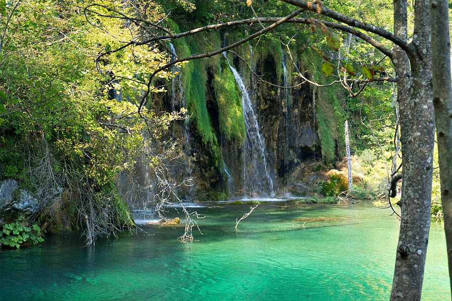 Waterfall between on of Plitvice's 16 lakes