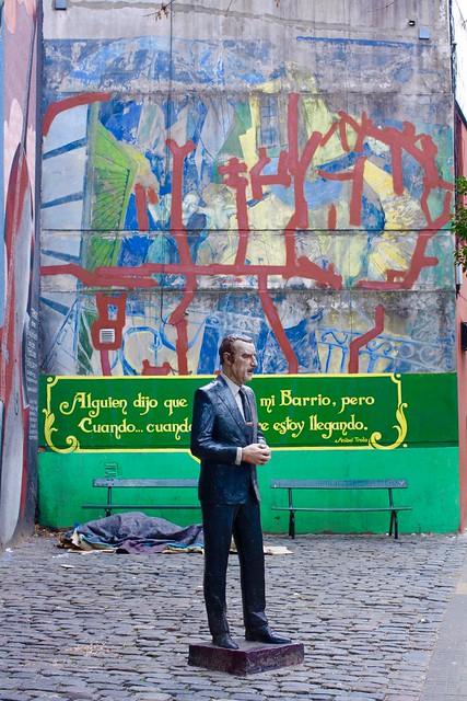 """Aníbal Troilo: """"Alguien dijo una vez Que yo me fui de mi barrio, Cuando? …pero cuando?  Si siempre estoy llegando!"""" San Telmo, Buenos Aires"""