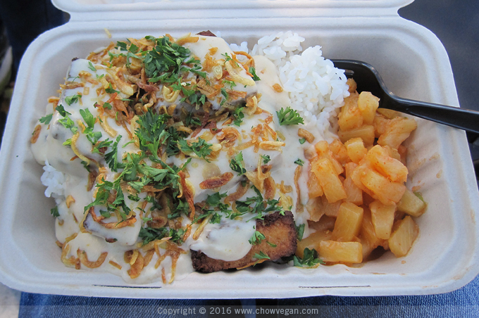 Miso Tofu with Truffle Coconut Gravy from It's All Gravy Food Truck