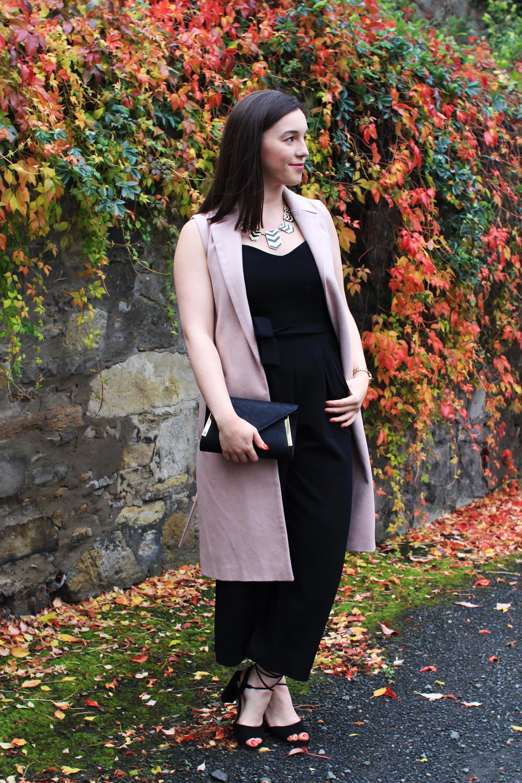 Quiz black jumpsuit House of Fraser fashion blogger UK Edinburgh