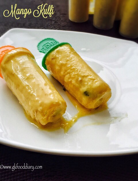 Mango Kulfi Recipe for Toddlers and Kids3