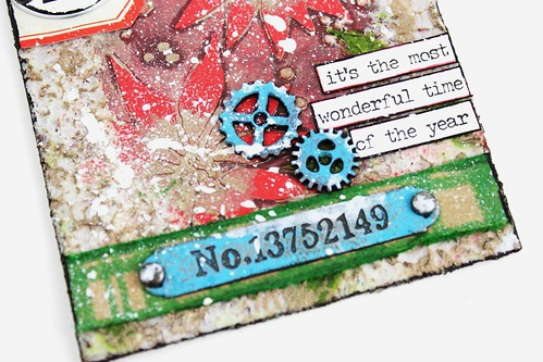 Meihsia Liu Simply paper Crafts Mixed Media Tag Christmas Simon Says Stamp Tim Holtz New Release 5