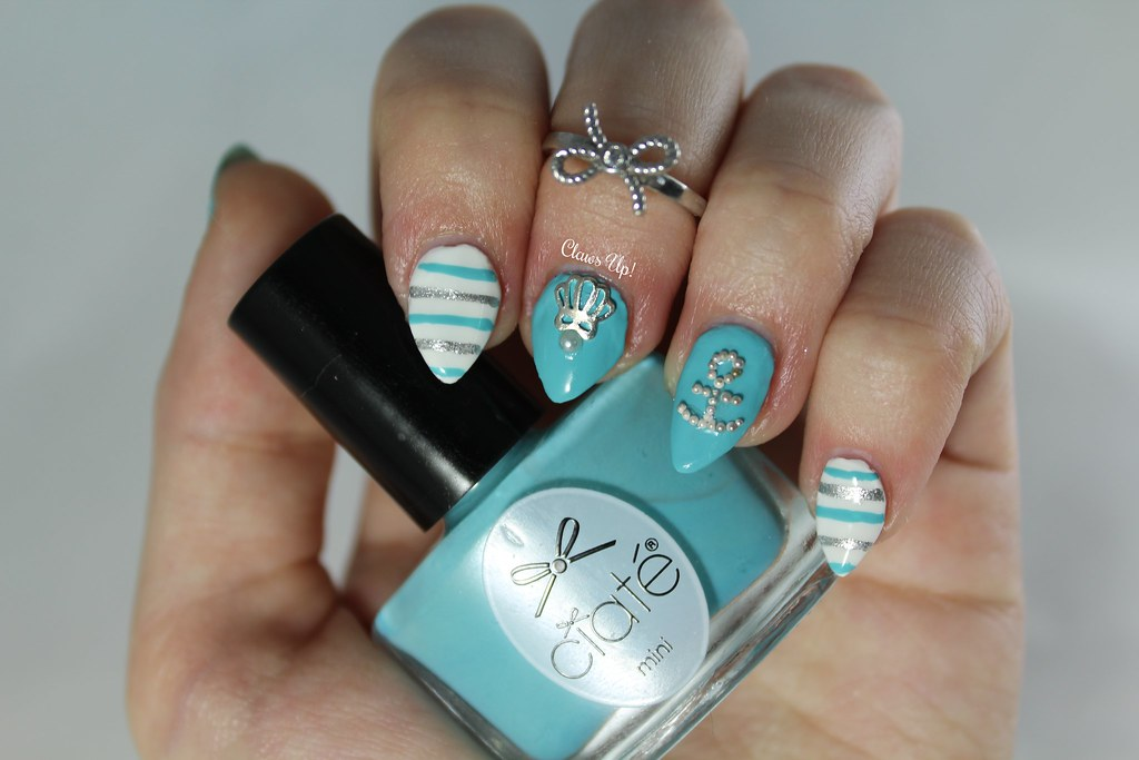 Nautical nail art using Ciate Ahoy Sailor from the 2015 Mini Mani Month
