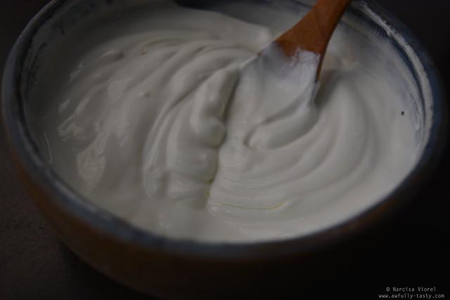 vinete cu iaurt si rodii