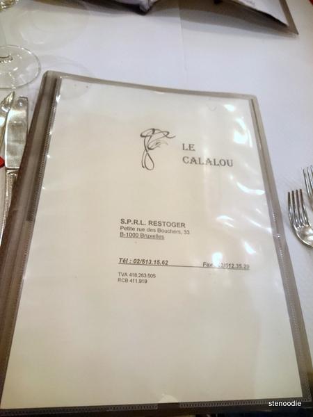 Le Calalou menu