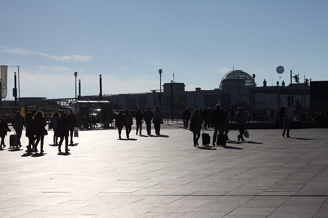 Walking towards Reichstag Building