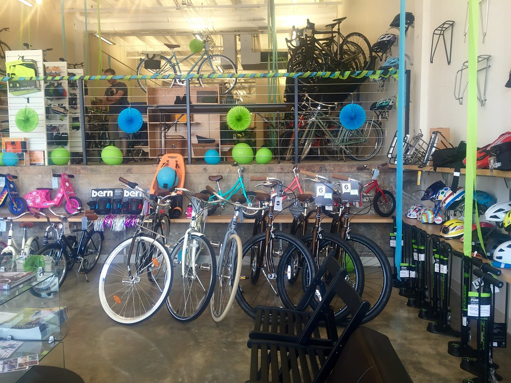 interior of BicycleSpace - Ivy City