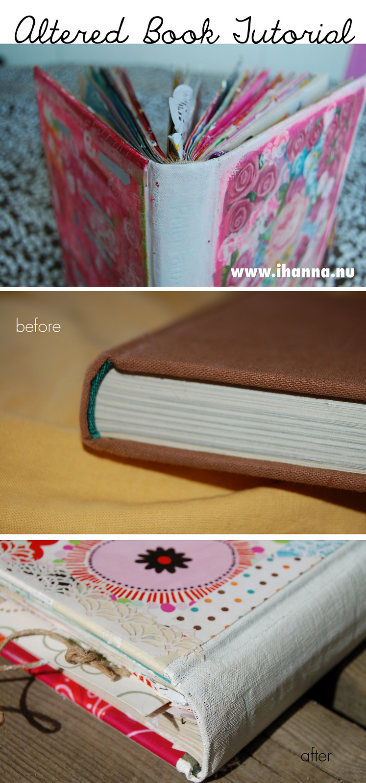 Altered Book Tutorial by @ihanna #alteredbook #artjournaling